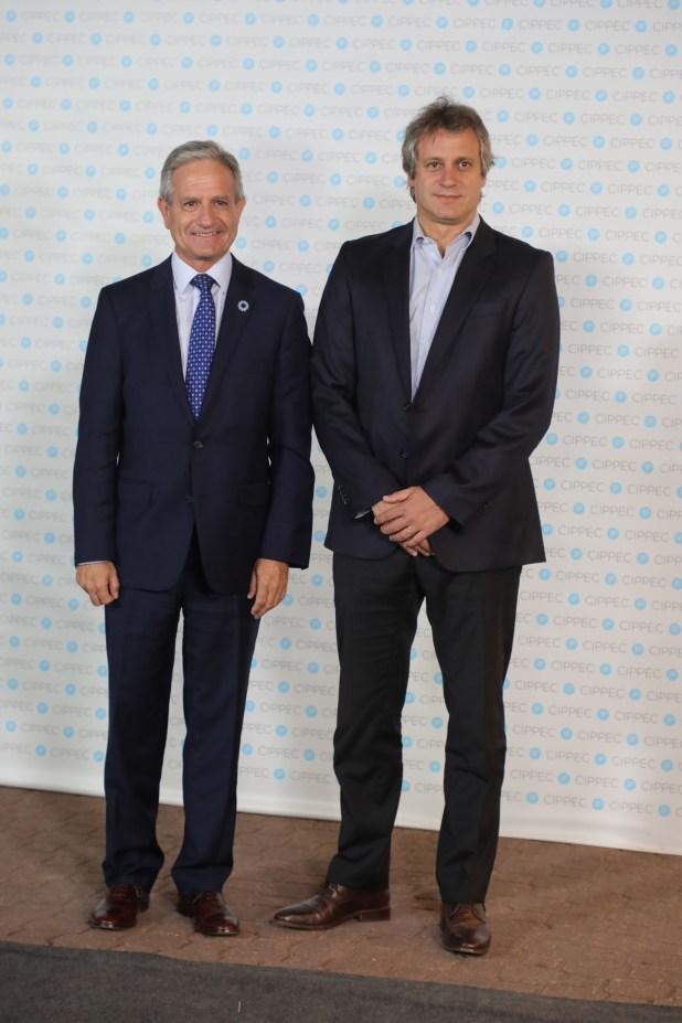 El secretario de Modernización y vicejefe de Gabinete, Andrés Ibarra, y el jefe de Gabinete porteño, Felipe Miguel