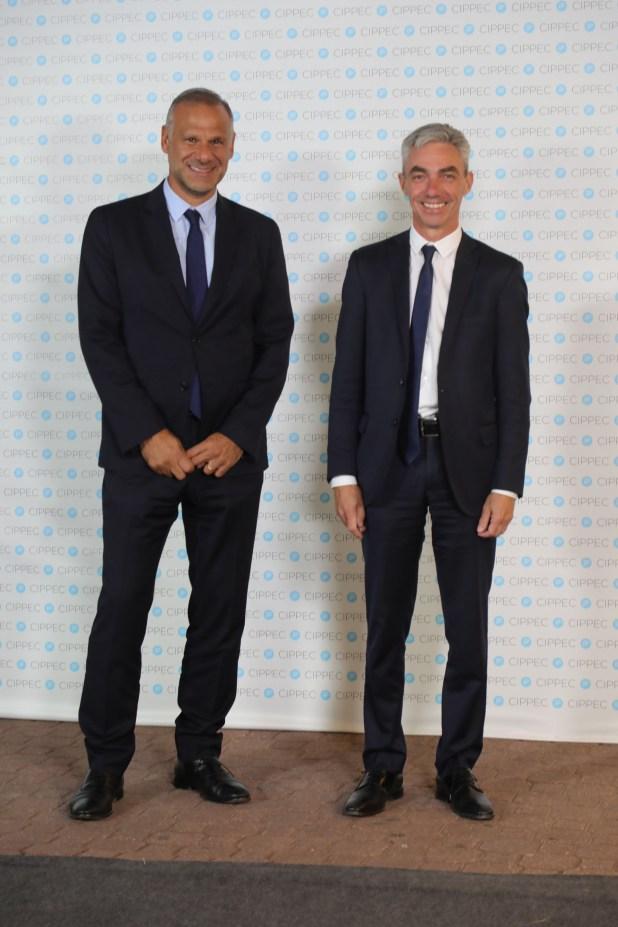 Luis Galli, CEO de Newsan, y Mario Meoni, ex intendente de Junín