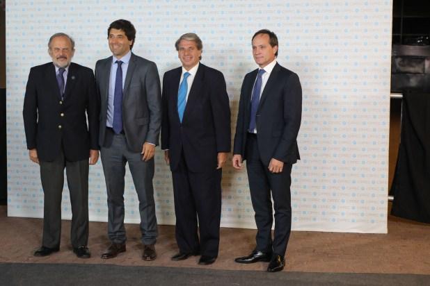 El diputado Eduardo Amadeo, Sebastián García De Luca, secretario de Interior, el procurador general de la Ciudad, Gabriel Astarloa, y el senador Carlos Espínola