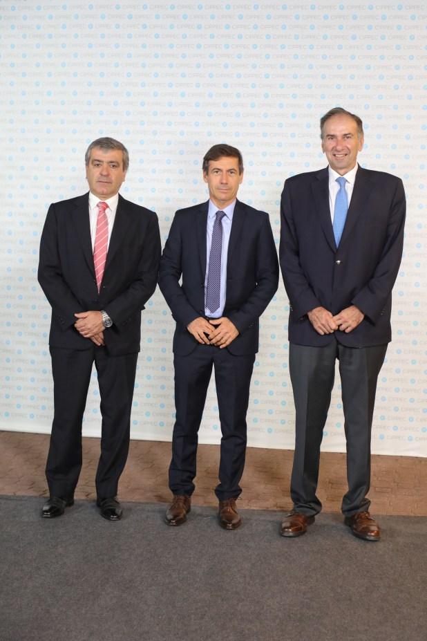 José Cano, Luis Naidenoff y Humberto Schiavoni