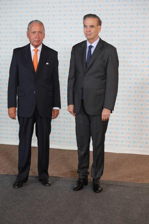 El titular de la Coordinadora de Industrias de Productos Alimenticios (Copal), Daniel Funes de Rioja, y el senador Miguel Angel Pichetto