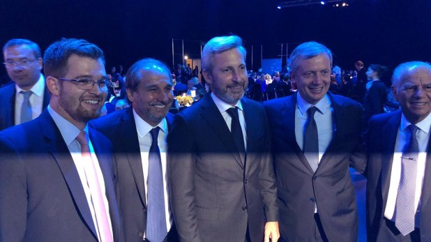 Nicolás Massot, Nicolás Caputo, Rogelio Frigerio, Emilio Monzó y Alejandro Bulgheroni