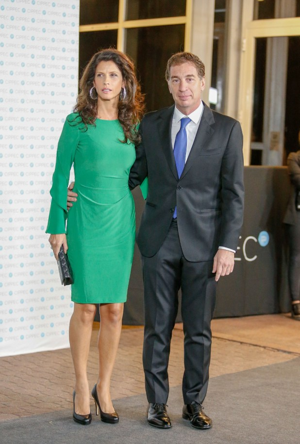 El vicejefe de Gobierno porteño y ministro de Seguridad porteño, Diego Santilli, junto a su mujer Analía Maiorana