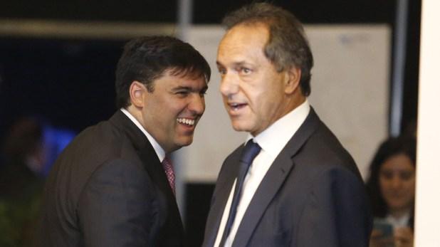 Los diputados Diego Bossio y Daniel Scioli