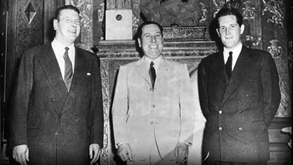 Skorzeny junto a Juan Domingo Perón, en Buenos Aires