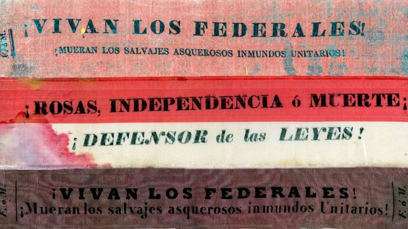 Divisas federales, c.1840 (Archivo General de la Nación)