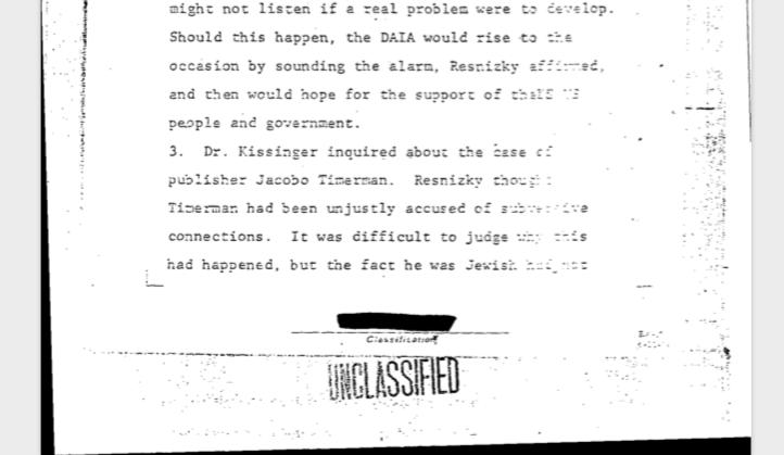 Los documentos desclasificadosconfirman que hubo distintas perspectivas sobre la dictadura dentro de las figuras más conocidas de la comunidad judía.
