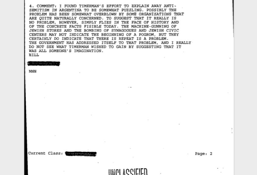 La opinión de Timermancambió con el curso de los meses y la represión ilegal estatal.