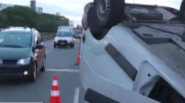 La circulación de vehículos quedó reducida a un carril