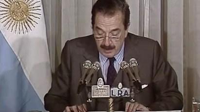 El ex presidente de la Nación, Raúl Alfonsín
