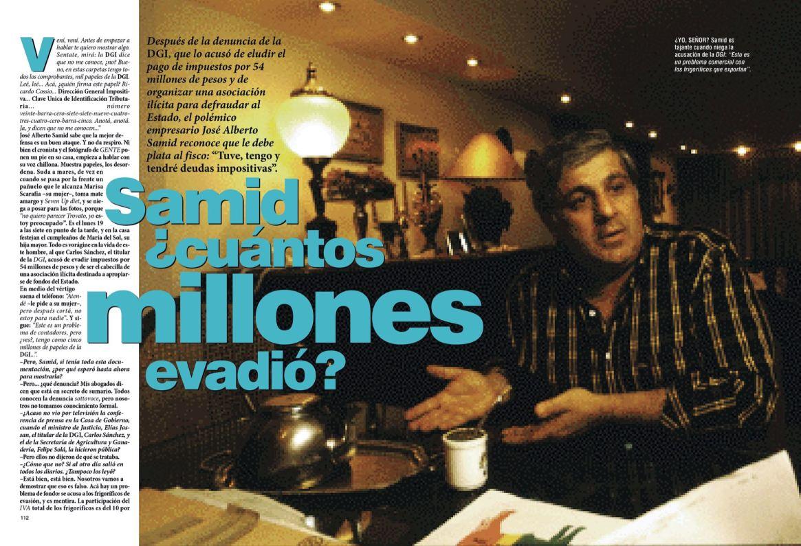 """La nota de Gente de 1996 y un claro título: Samid, ¿cuántos millones evadió?"""""""