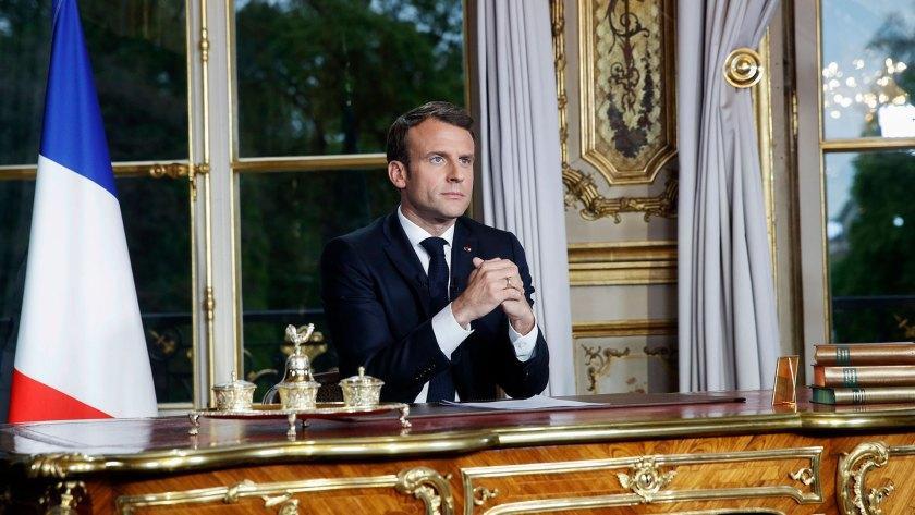 Emmanuel Macron, presidente de Francia, prometió reconstruir Notre Dame en cinco años (AFP)