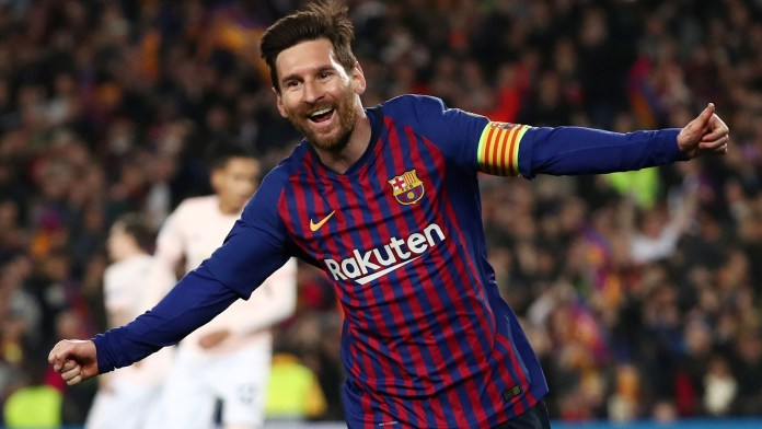 Lionel Messi marcó dos goles y fue la gran figura del Barcelona, que eliminó al Manchester United con un global de 4 a 0 (REUTERS)