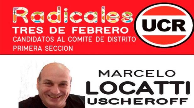 Marcelo Locatti referente de la UCR de Tres de Febrero