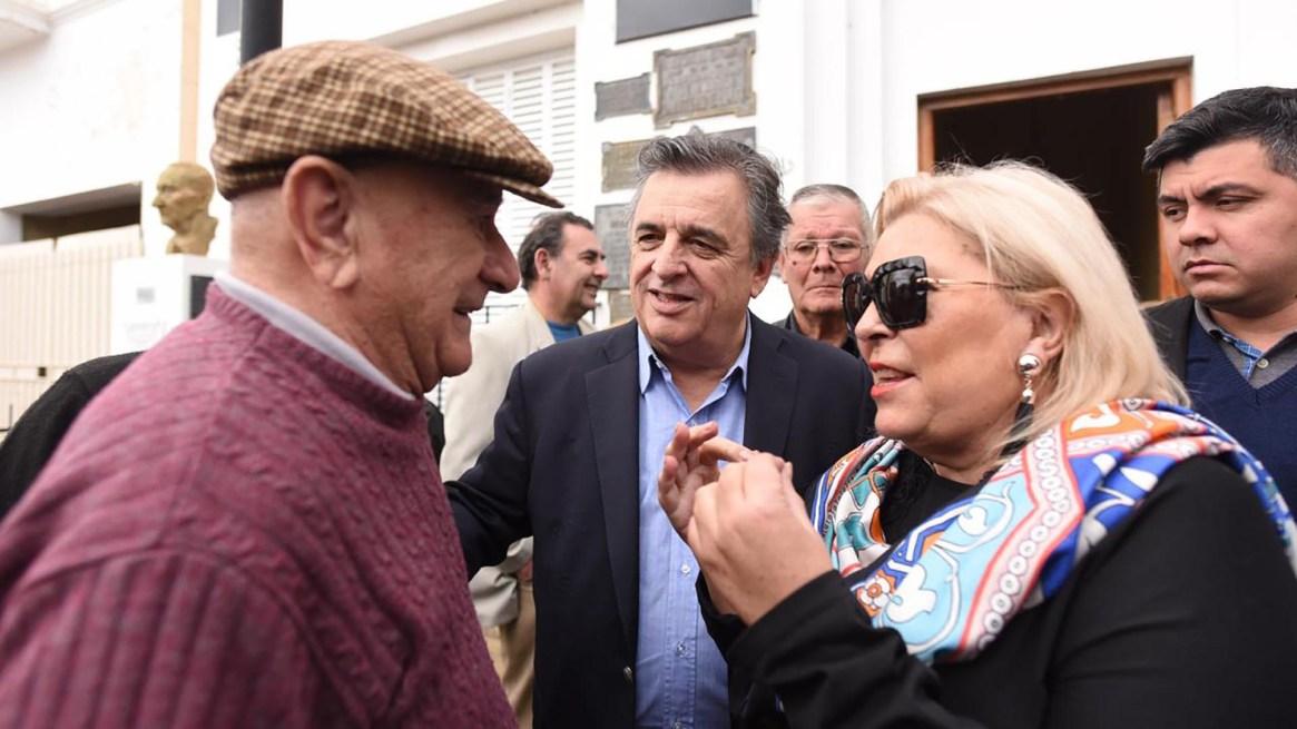 Elisa Carrió en Córdoba, de campaña con Mario Negri