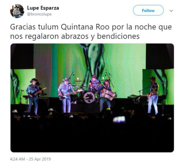 Ramiro no estuvo en la presentación de hace unos días en Tulum (Twitter Lupe Esparza)