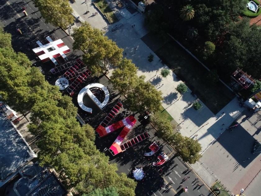 El espacio #MeW sobre la av. Sarmiento desde arriba (Ministerio de Cultura de la Ciudad)