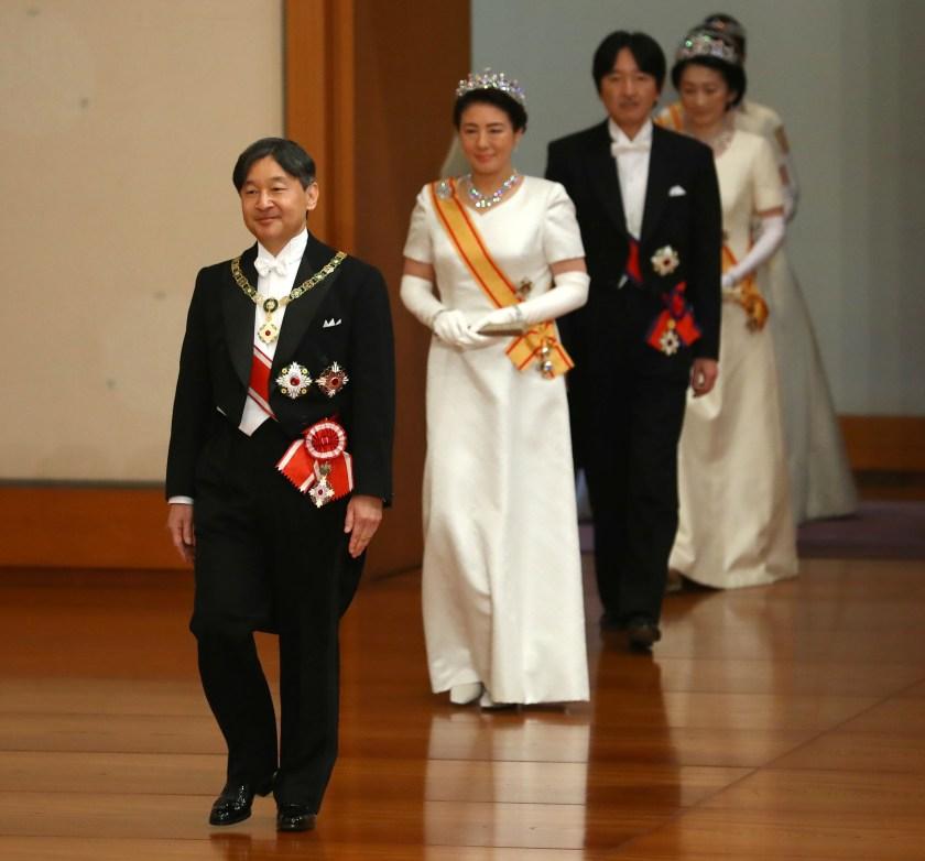 El emperadorNaruhito junto a Masako. (REUTER)