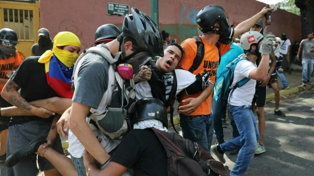EEUU denunció la brutalidad de la represión del régimen de Maduro (AP Photo/Rodrigo Abd)