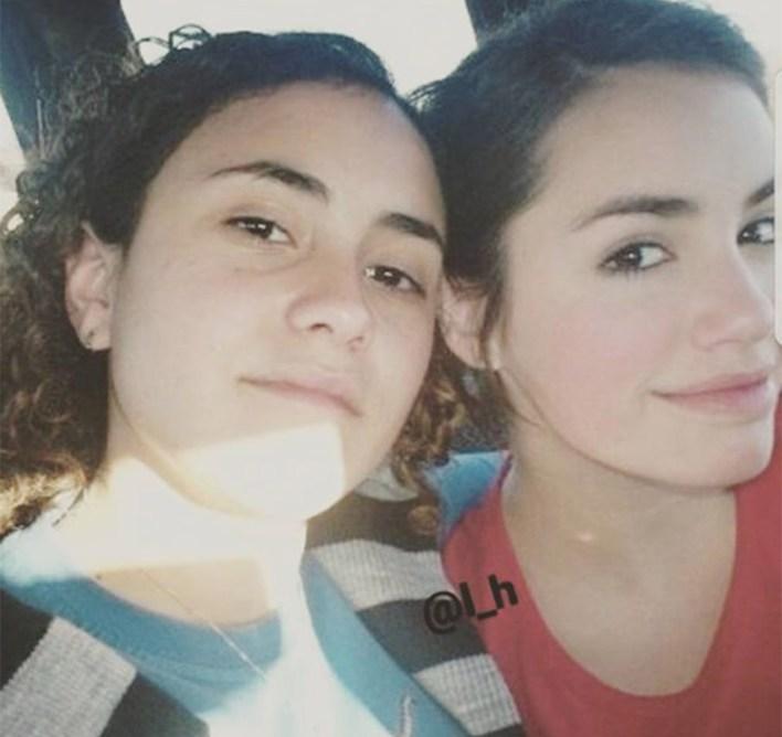 Virginia Riera y Lali Espósito, varios años atrás