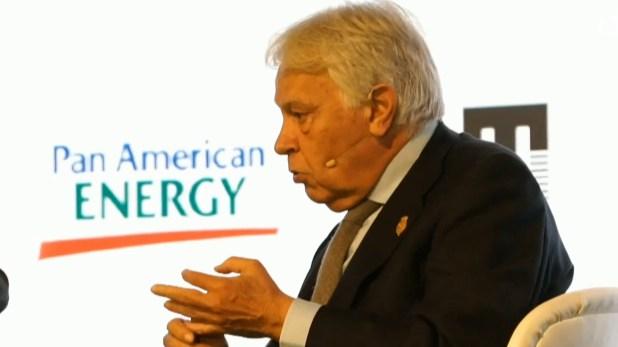 Felipe González habló de Venezuela
