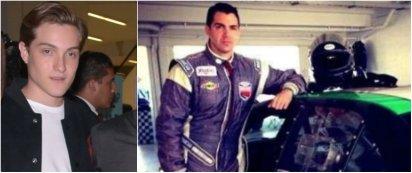 A la izquierda Nicolás Peralta Tort (quien conducía el auto) se encuentra hospitalizado con lesiones leves. A la derecha el instructor Peter London, quien murió al instante de la colisión Foto: Especial
