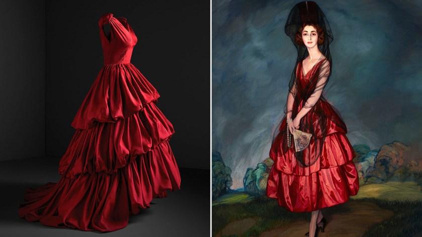 """Vestido de noche/Ignacio Zúñiga """"Retrato Duquesa de Alba"""", 1921. Un clásico estilo español en una reinvención inspirado en uno de los tantos cuadros que retratan a la duquesa de Alba"""