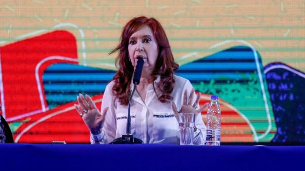 Cristina Kirchner en la presentación de su libro (Nicolás Aboaf)