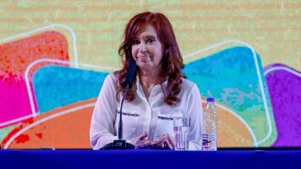 """La ex presidenta Cristina Kirchner, durante la presentación de su libro """"Sinceramente"""" (Nicolás Aboaf)"""