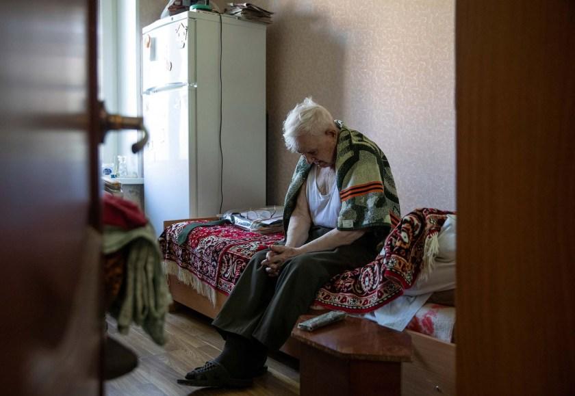 Nikolay Bagayev en su departamento (REUTERS/Maxim Shemetov)