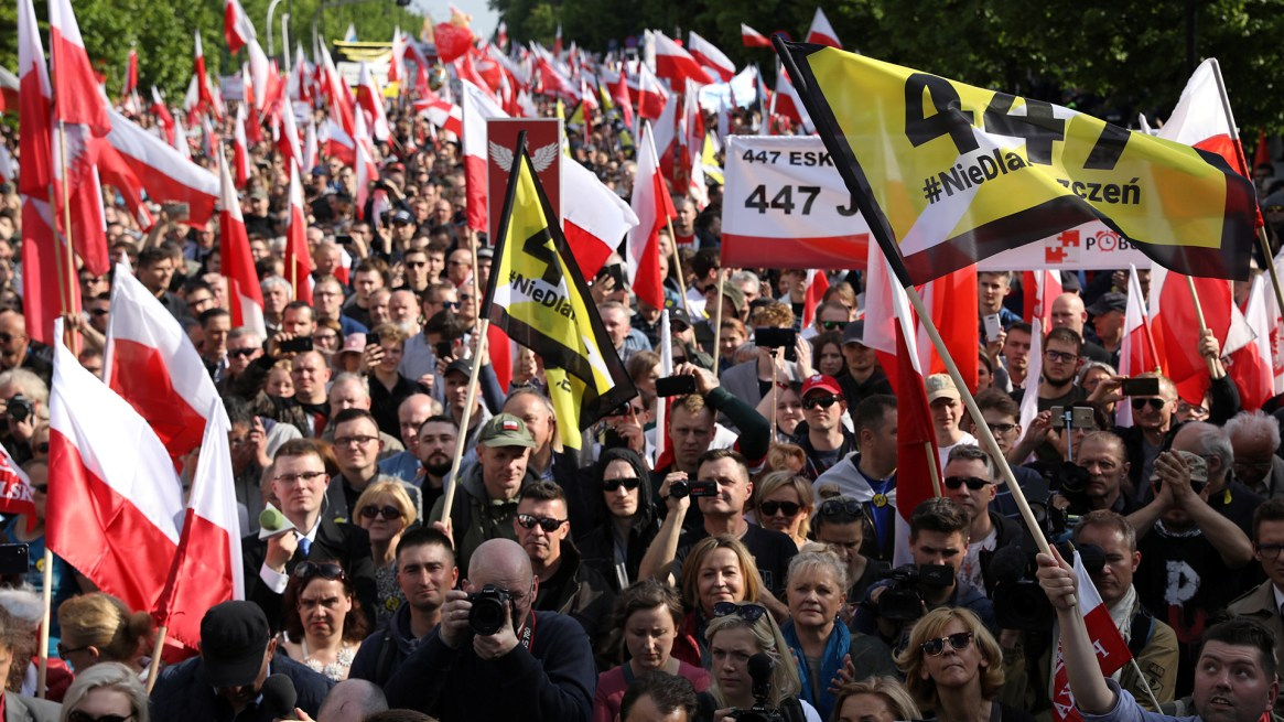 La extrema derecha polaca se opone a la restitución de los bienes de los judíos (Agencja Gazeta/Maciej Jazwiecki via REUTERS)