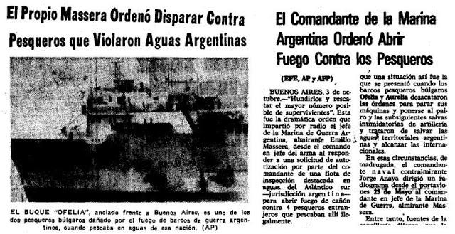 Cinco destructores argentinos persiguieron a varios pesquerossoviéticos y búlgaros en 1977, y lograron la detención de nueve. (unla.edu.ar)