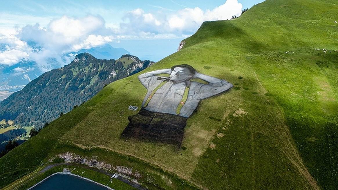 """""""Un gran hombre"""", Leysin, Suiza"""