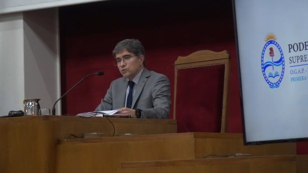 El juez del Tribunal Penal Colegiado 3, Ezequiel Crivelli