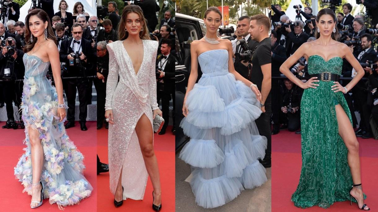 Los diseños con volados y grandes aberturas adelante invadieron la red carpet del Festival de Cannes.