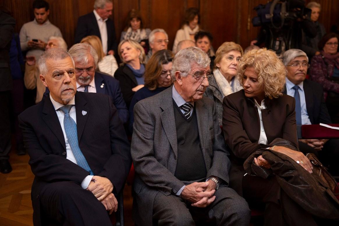 Roald César Devetac, rector del ILSE, y Juan Carlos Ferreri, presidente de la Academia Nacional de las Ciencias