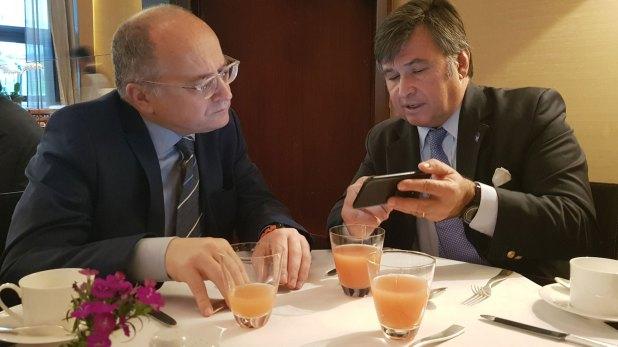 Roberto Cardarelli yDaniel Pelegrina, el miércoles pasado