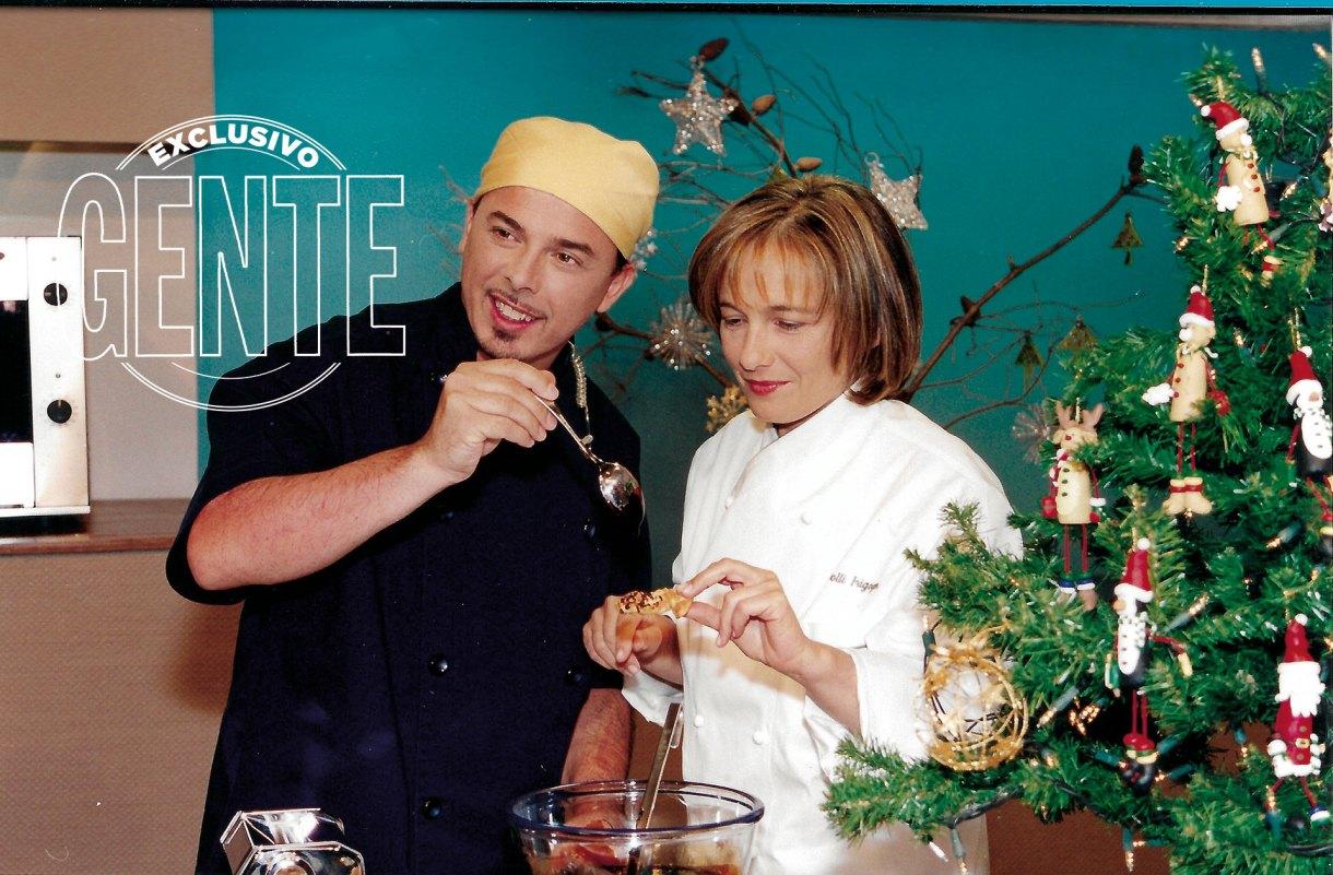 Junto a Dolli Irigoyen en El Gourmet, canal en el que comenzó su carrera televisiva.