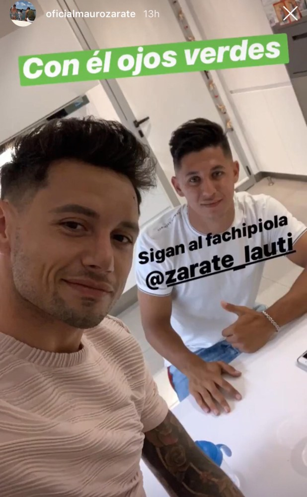 Mauro, junto a su sobrino Lautaro (Instagram: @oficialmaurozarate)