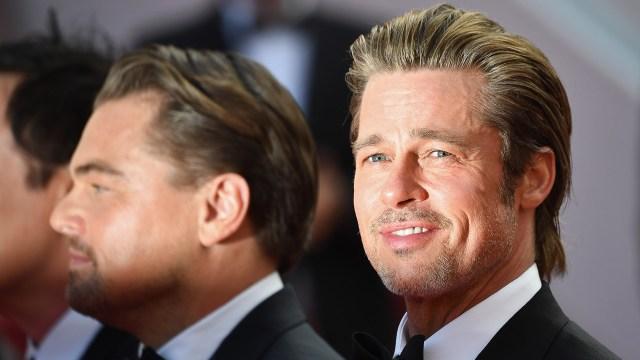 Brad Pitt junto a Leonardo DiCaprio en la alfombra roja de Cannes 2019