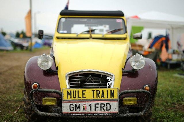 """En este caso, con la inscripción """"Tren Mula"""". (Reuters)"""