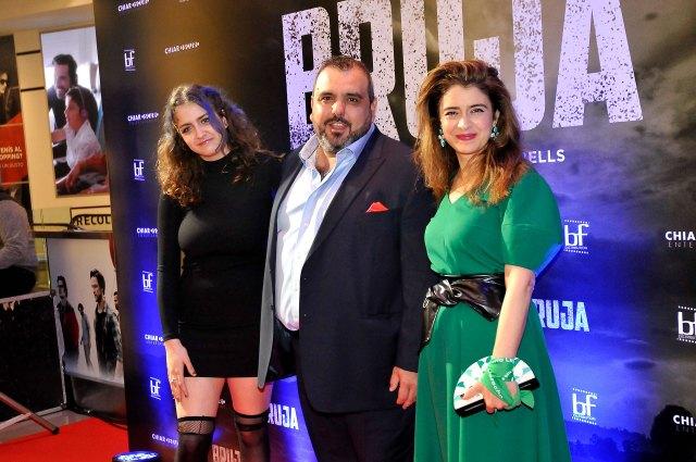El director del filme Marcelo Paez Cubells junto a las protagonistas (Darío Batallan / Teleshow)