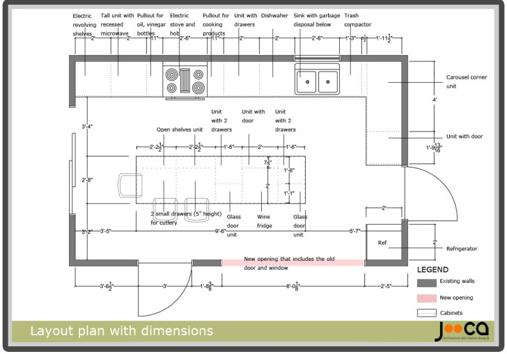 Kitchen Island Dimensions With Sink