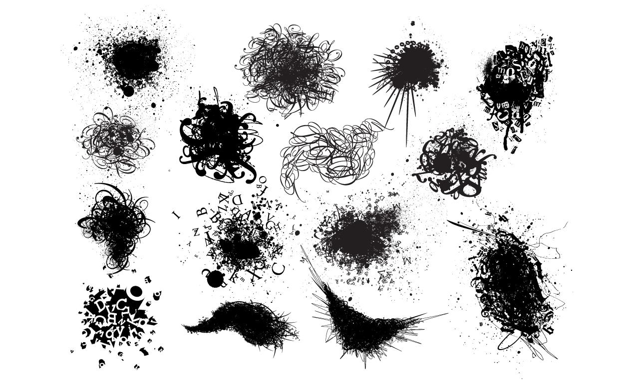 Type Explosion Vector Pack For Adobe Illustrator