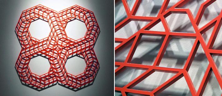 """Aakash Nihalani, 'Overlap IV,'  2010, powder coated aluminum, 42""""x42""""x25"""""""