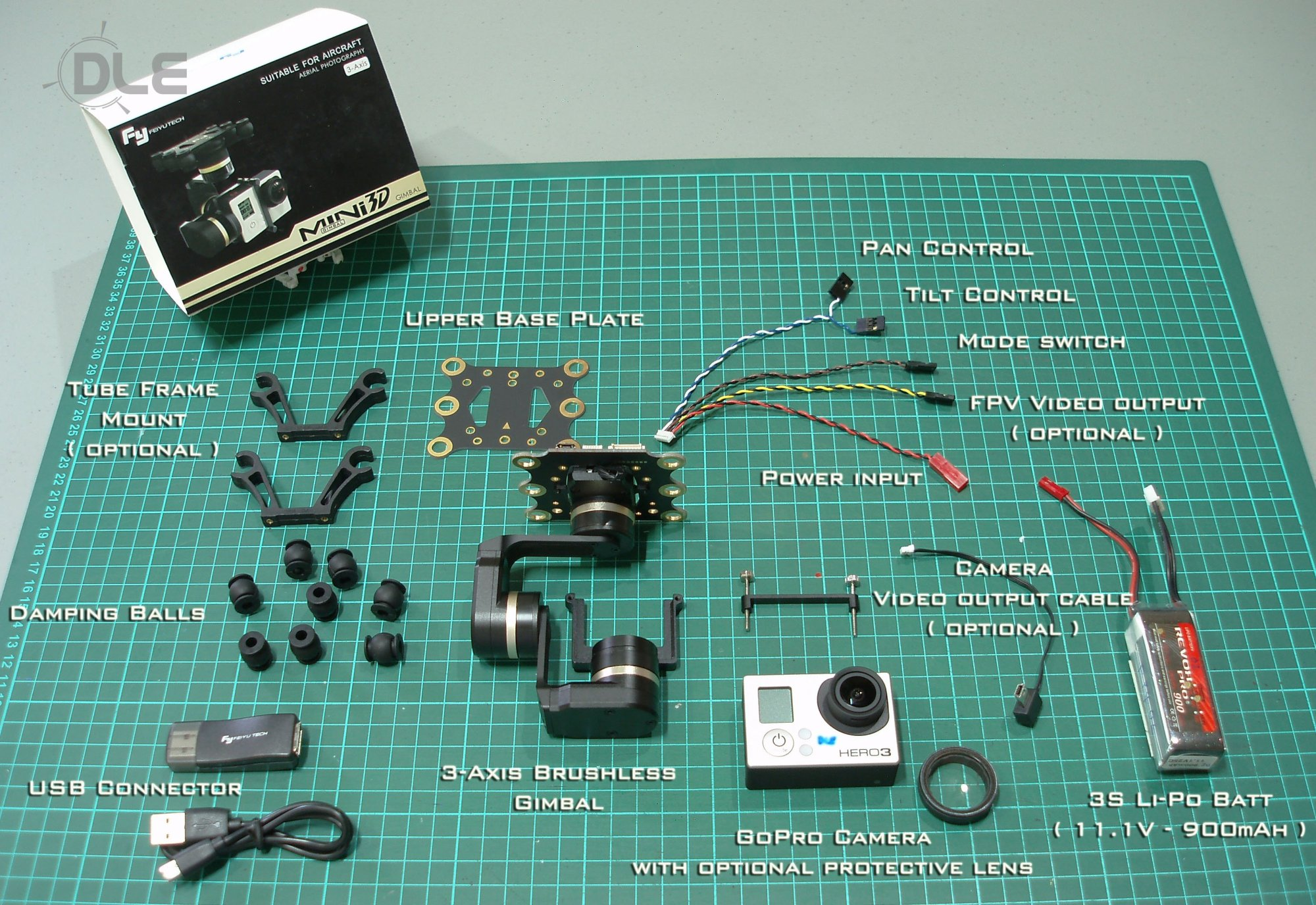 hight resolution of the camera gimbal system consists of