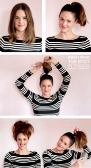 big top knot medium length