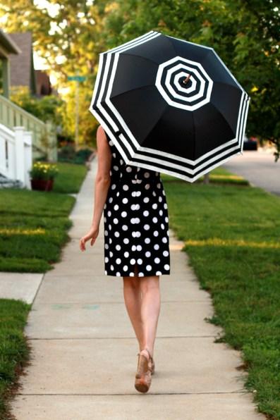 DIY, Do It Yourself, DIY Umbrella, What I Wore, WhatIWore, Black and White Umbrella, Jessica Quirk, Striped Umbrella