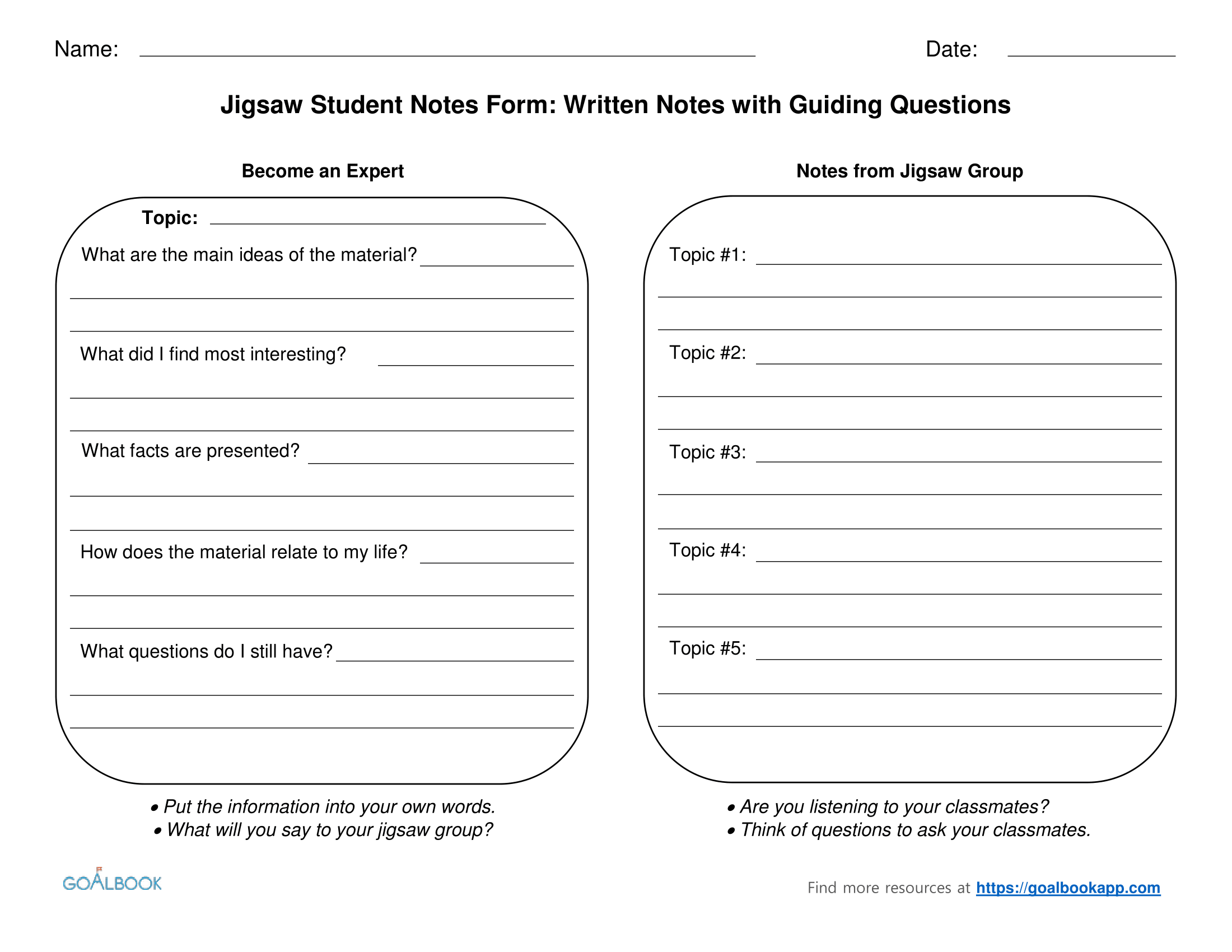 Jigsaw Reading Worksheet