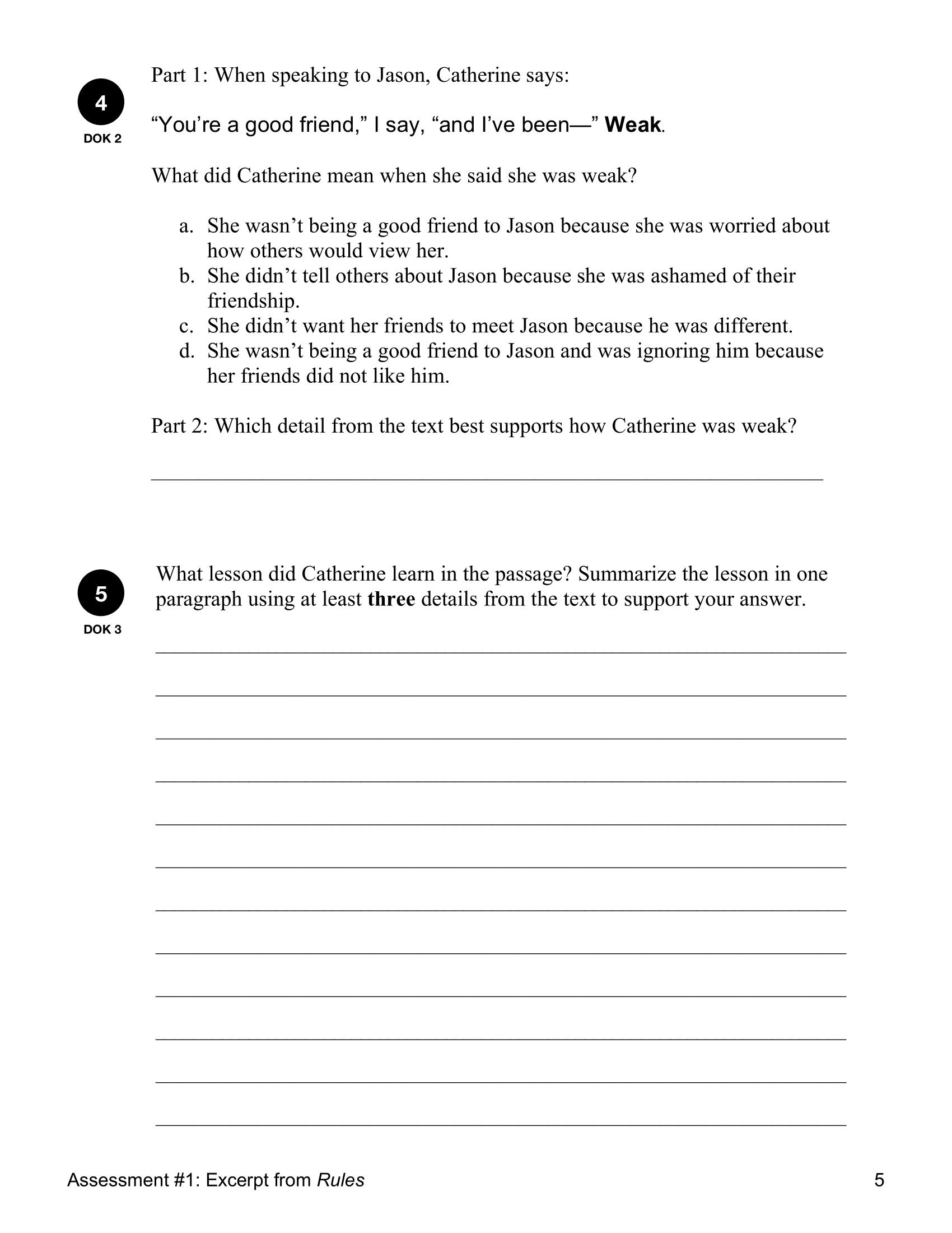 Reading Quick Assessment Rl 5 2